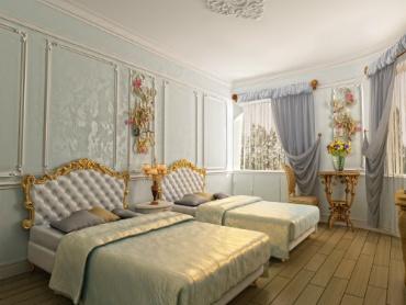Hotel Guest Room - Vintage Victorian Design